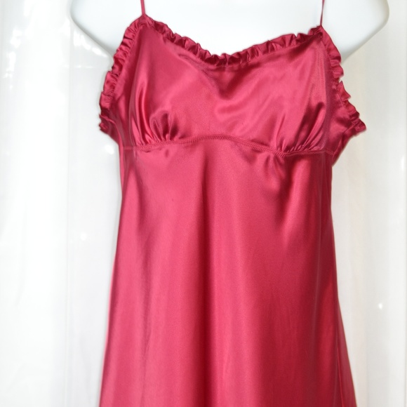 Necessary red satin nightie think
